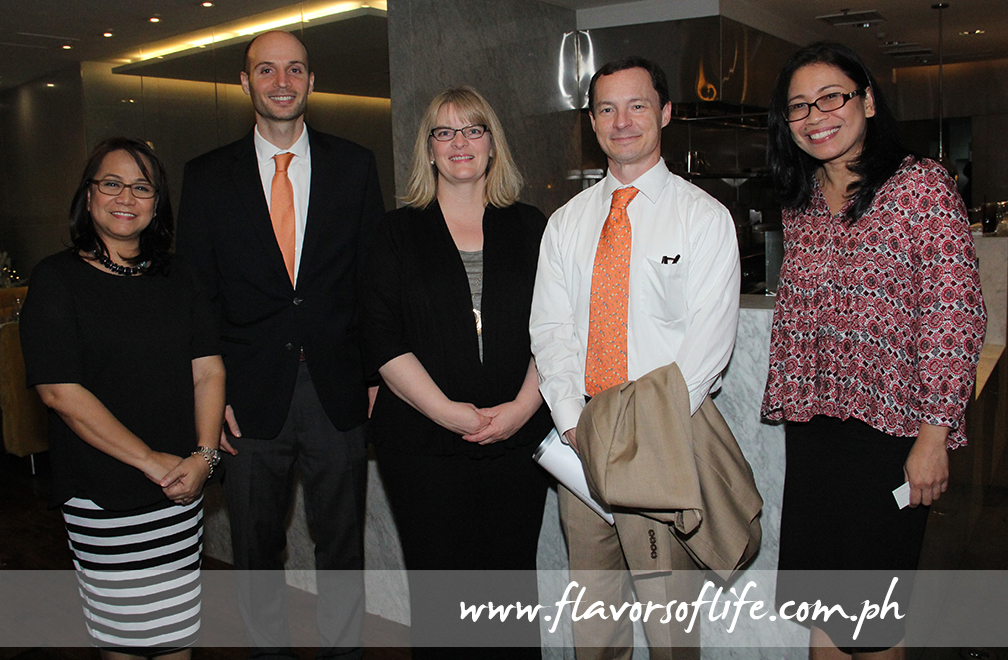 USPB Philippines' Evelyn Mercurio, U.S. Agricultural Attache Jeffrey Albanese, USPB global foodservice marketing manager Susan Weller, U.S. Agricultural Counselor Ralph Bean, and USPB Philippines' Reji Retugal-Onal