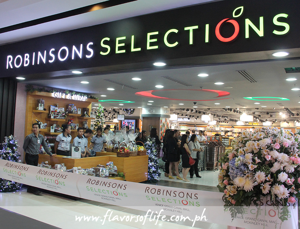 Robinsons Supermarket opened its second Robinsons Selections store at Venice Grand Canal Mall in McKinley Hill, Taguig City