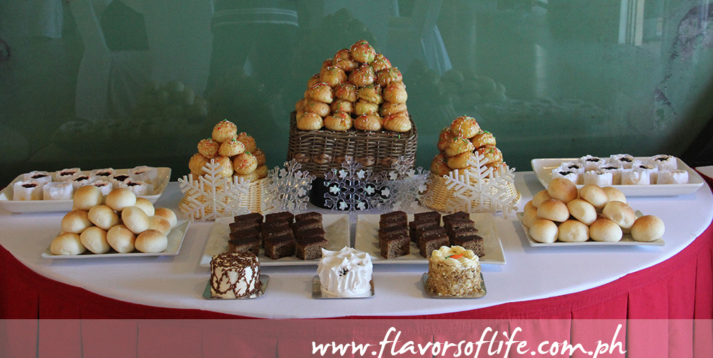 Part of the 'Unlimited Coffee and Cakes' spread