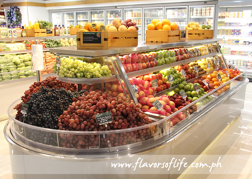 Premium fresh fruits presented in a modern setting at the new Robinsons Selections at McKinley Hill