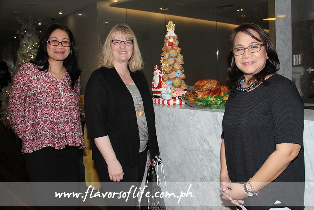 USPB Philippines country representative Reji Retugal-Onal, USPB global foodservice marketing manager Susan Weller, and USPB Philippines' Evelyn Mercurio