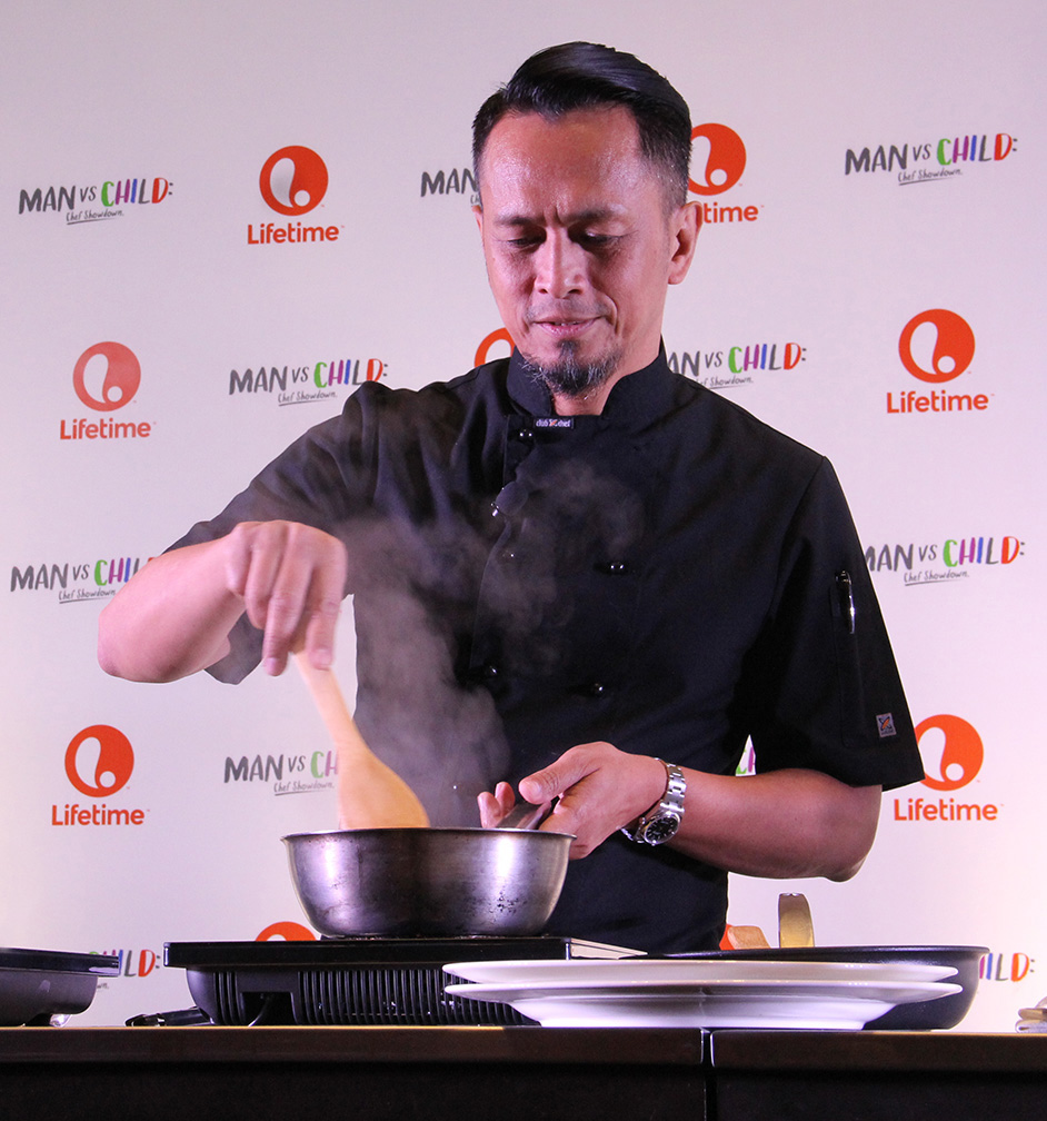 Chef Sau Del Rosario gamely takes on the young chef