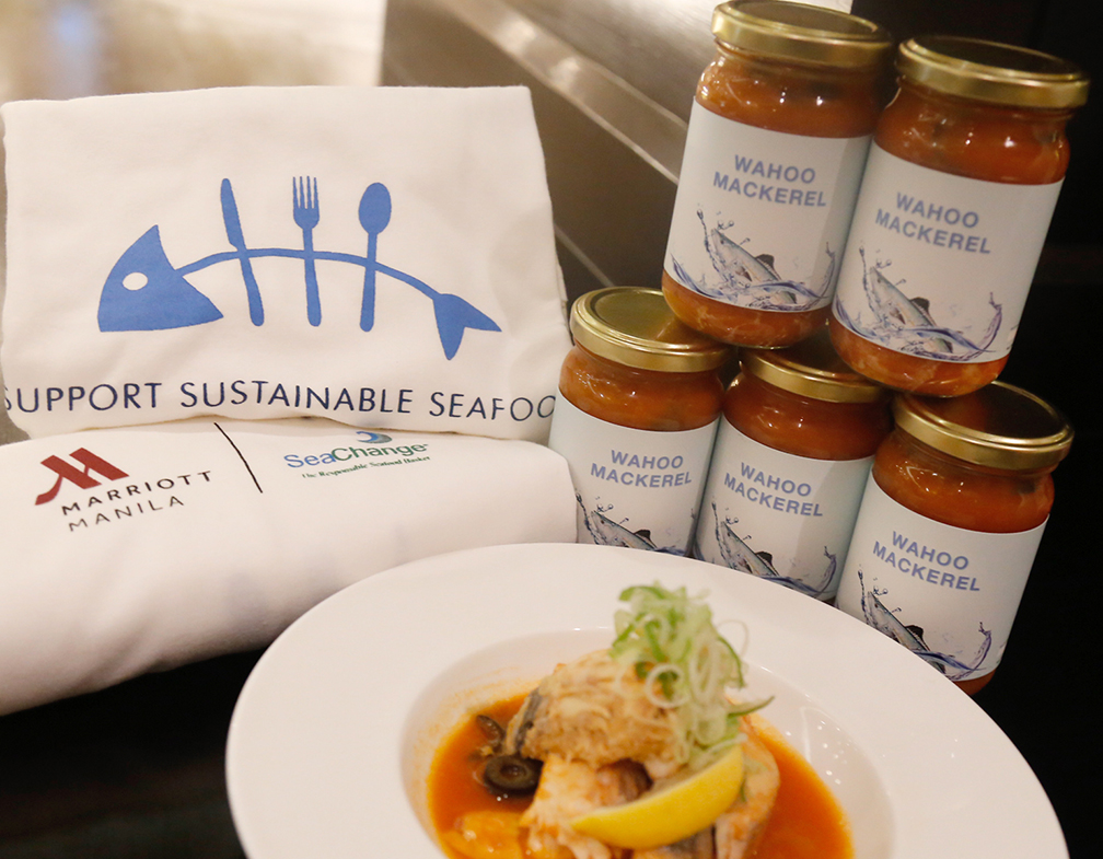 Sustainable 'Wahoo Mackerel' in bottles sold at MC Bakery during 'Sustainable Seafood Week'