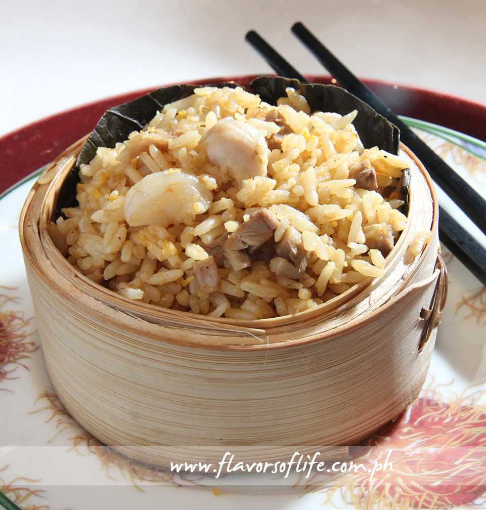 Fried Rice with Assorted Meat in Lotus Leaf