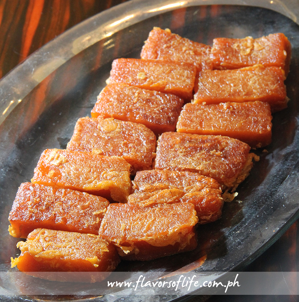 Tikoy or Pan-fried Glutinous Rice Cake Coated with Eggs