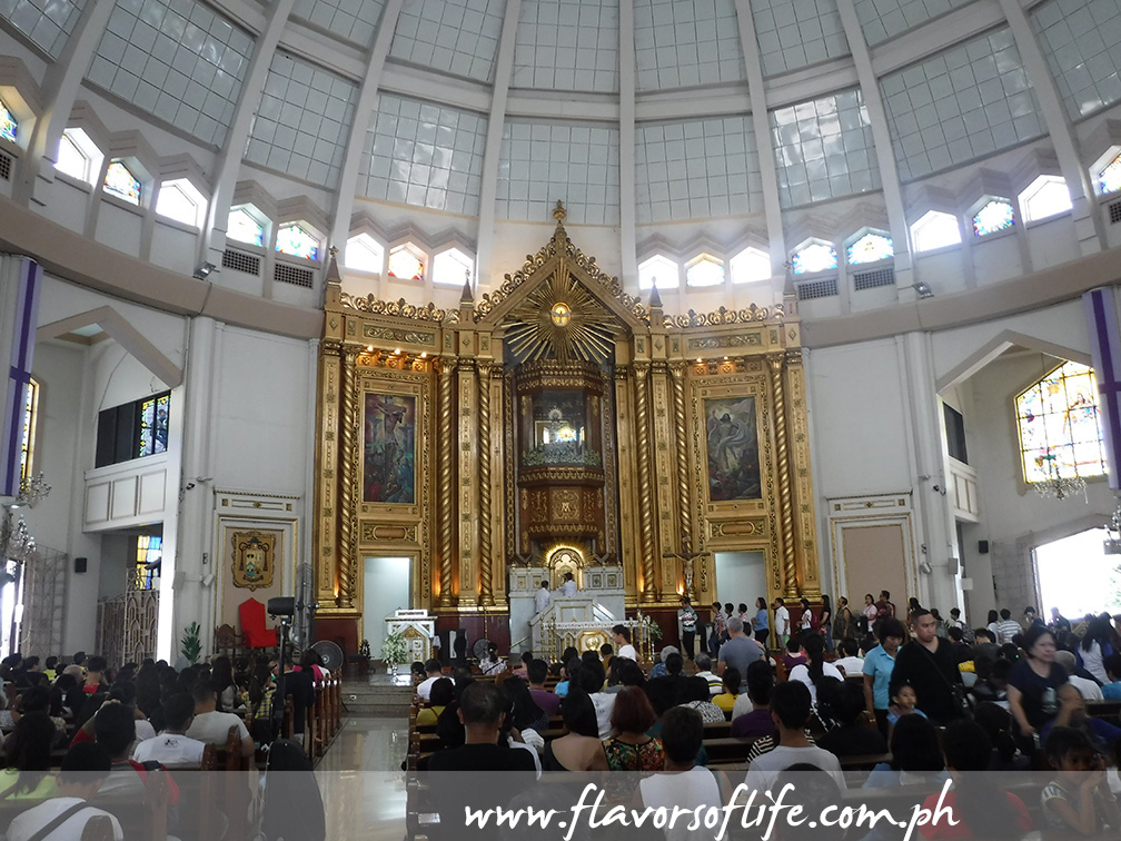 Crowds gathered inside the National Shrine of Our Lady of Peace and Good Voyage on Holy Thursday