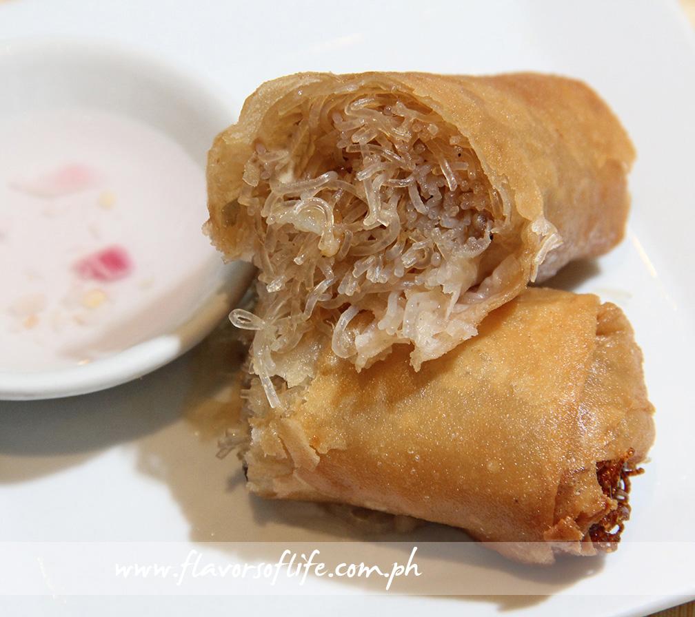 Lumpiang Sotanghon with Tinapa by Chef Sandy Daza