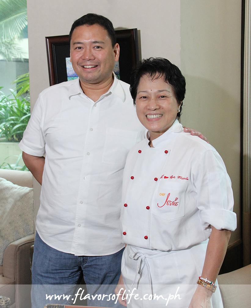 Paco Magsaysay, creator of Carmen's Best Ice Cream, with Chef Jessie Sincioco