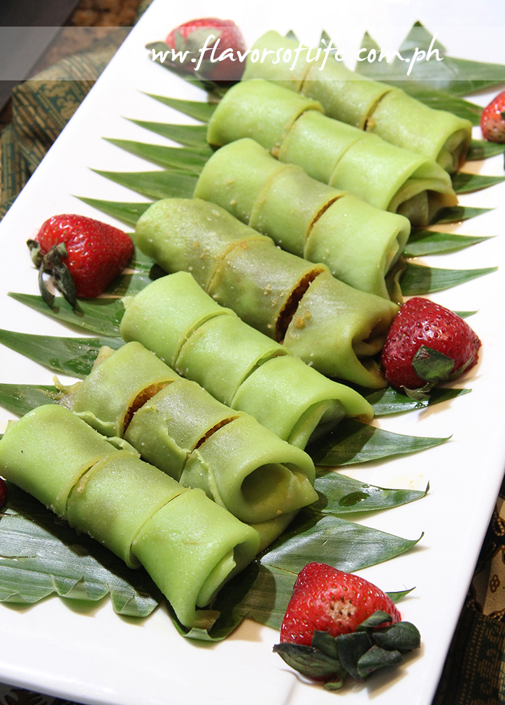 Pandan Pancakes with Coconut Filling