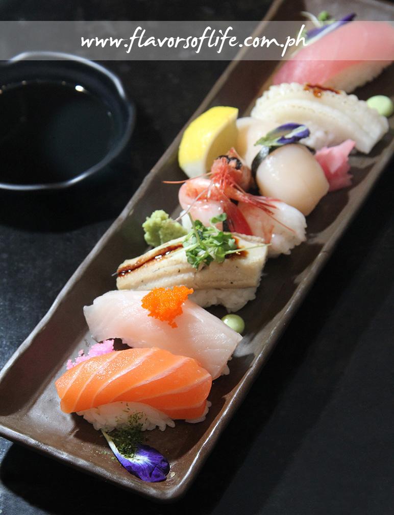 Ogetsu Hime's assorted sushi platter