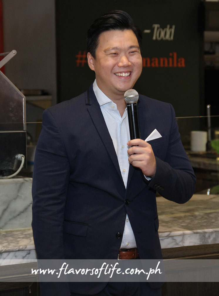 Managing director Eric Dee welcomes everyone to Todd English Food Hall