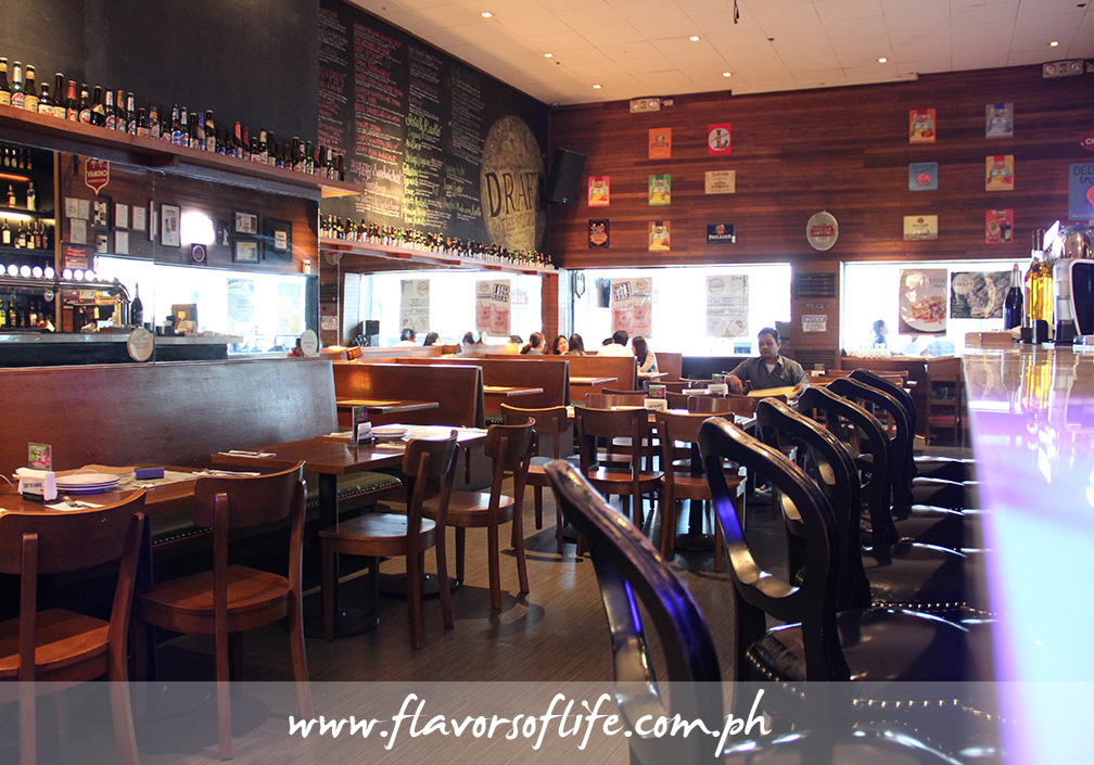 The cozy and comfy interiors of Draft Gastropub