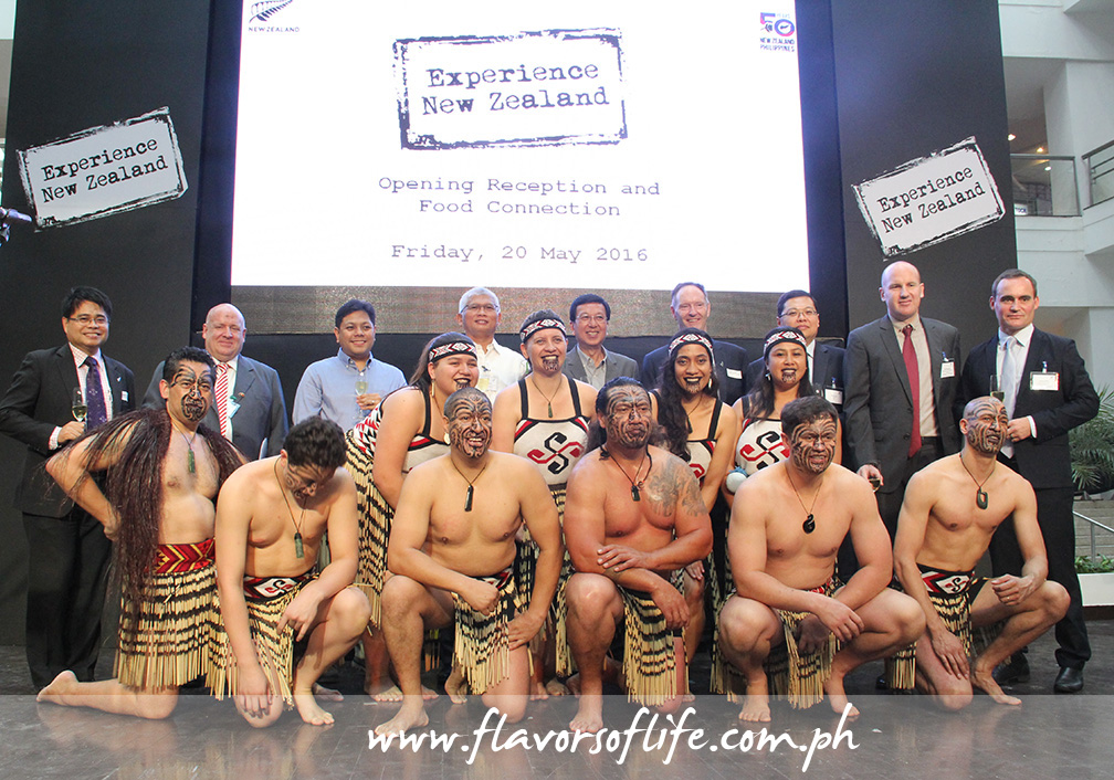 New Zealand Embassy officials with the Kapa Haka group that performed traditional Maori song and dance numbers during the event