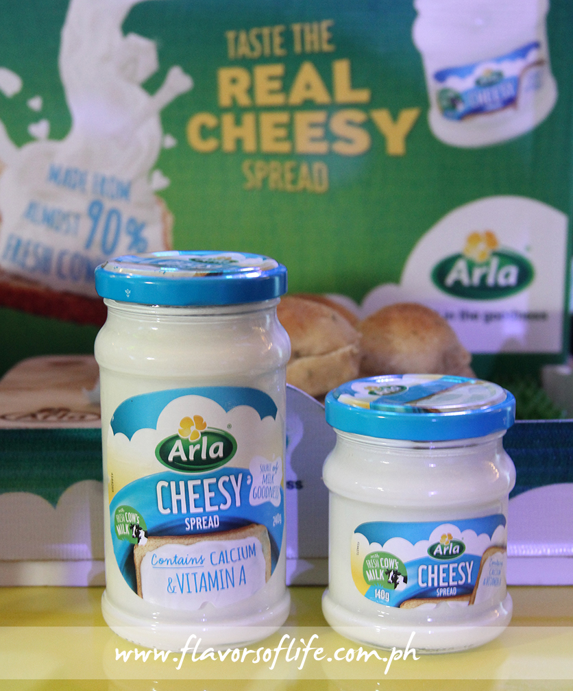 The new Arla Cheesy Spread comes with all the goodness of fresh milk straight from the Arla dairy farms in Denmark