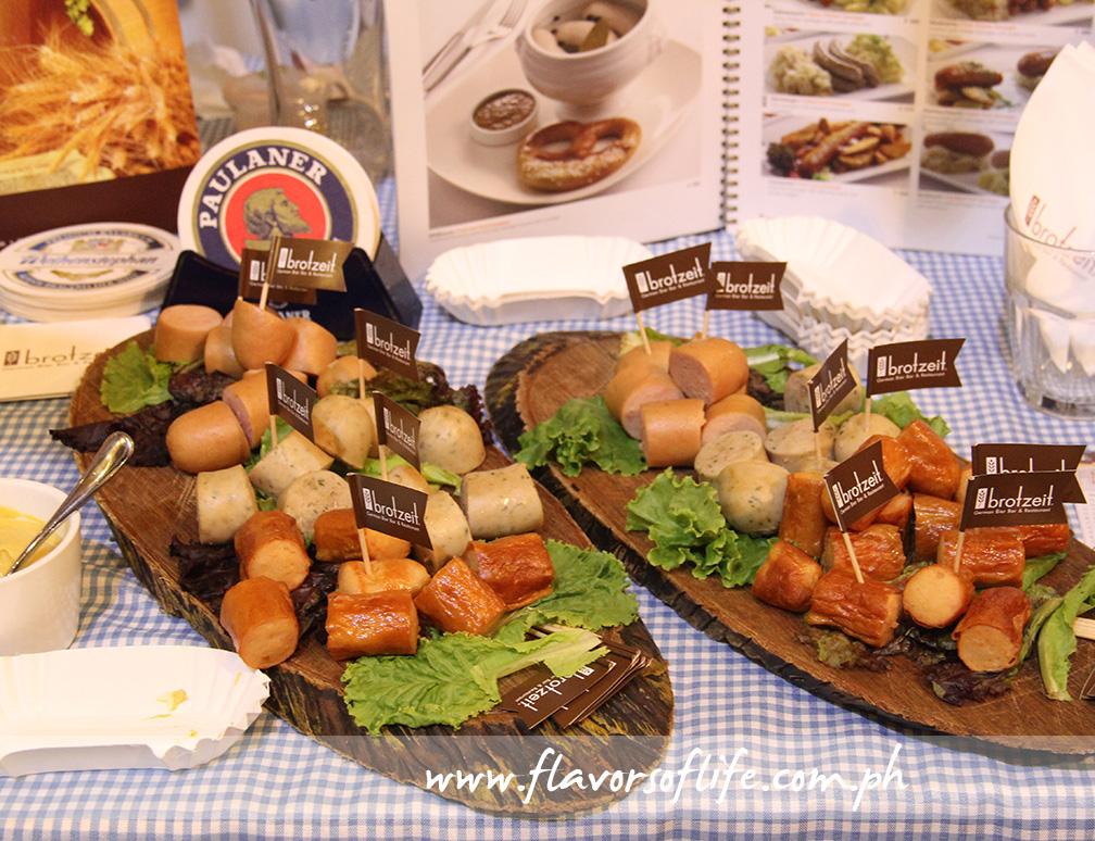 Sausages by Brotzeit German Bier Bar & Restaurant