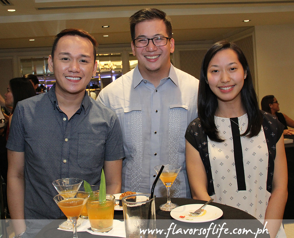 Chef Jam Melchor, Destileria Limtuaco's Aaron Aw and girlfriend Maika Tan