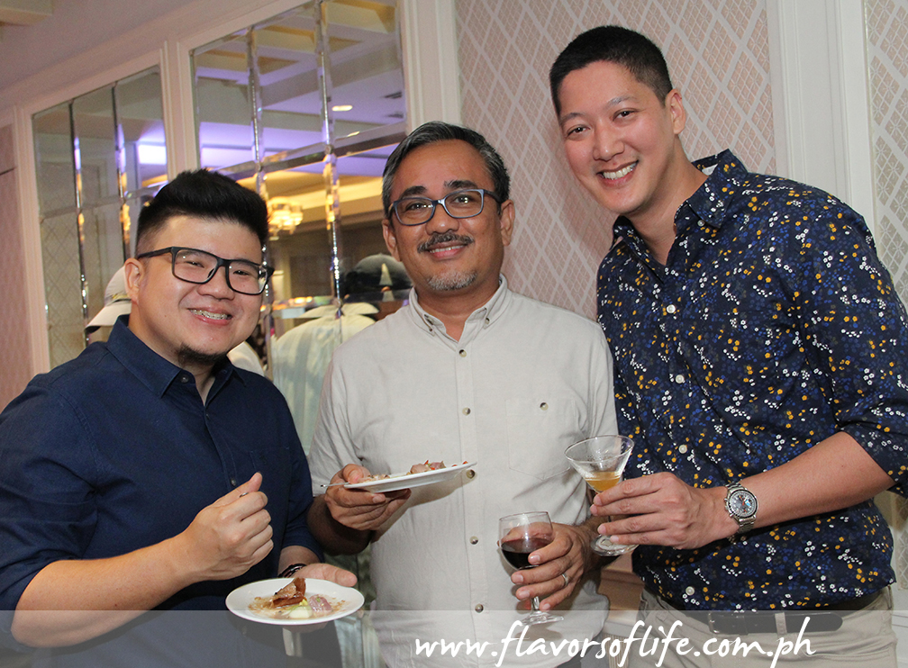 Chef Sharwin Tee, book designer Ige Ramos, and F&B Report editor Angelo Comsti