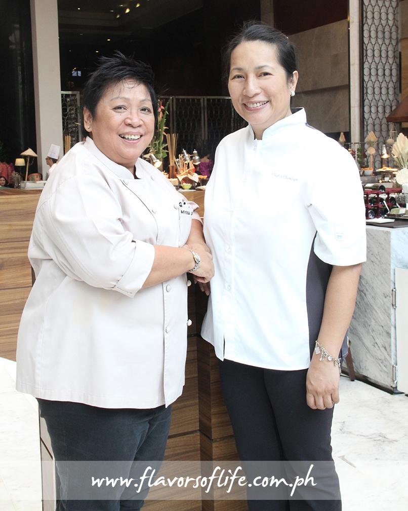 Guest chefs Myrna Segismundo and Jill Sandique