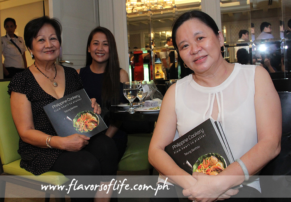 Guests at the launch, from left: Edith Singian, Bluewater Resorts' Rowena Jose and cake artist extraordinaire Penk Ching
