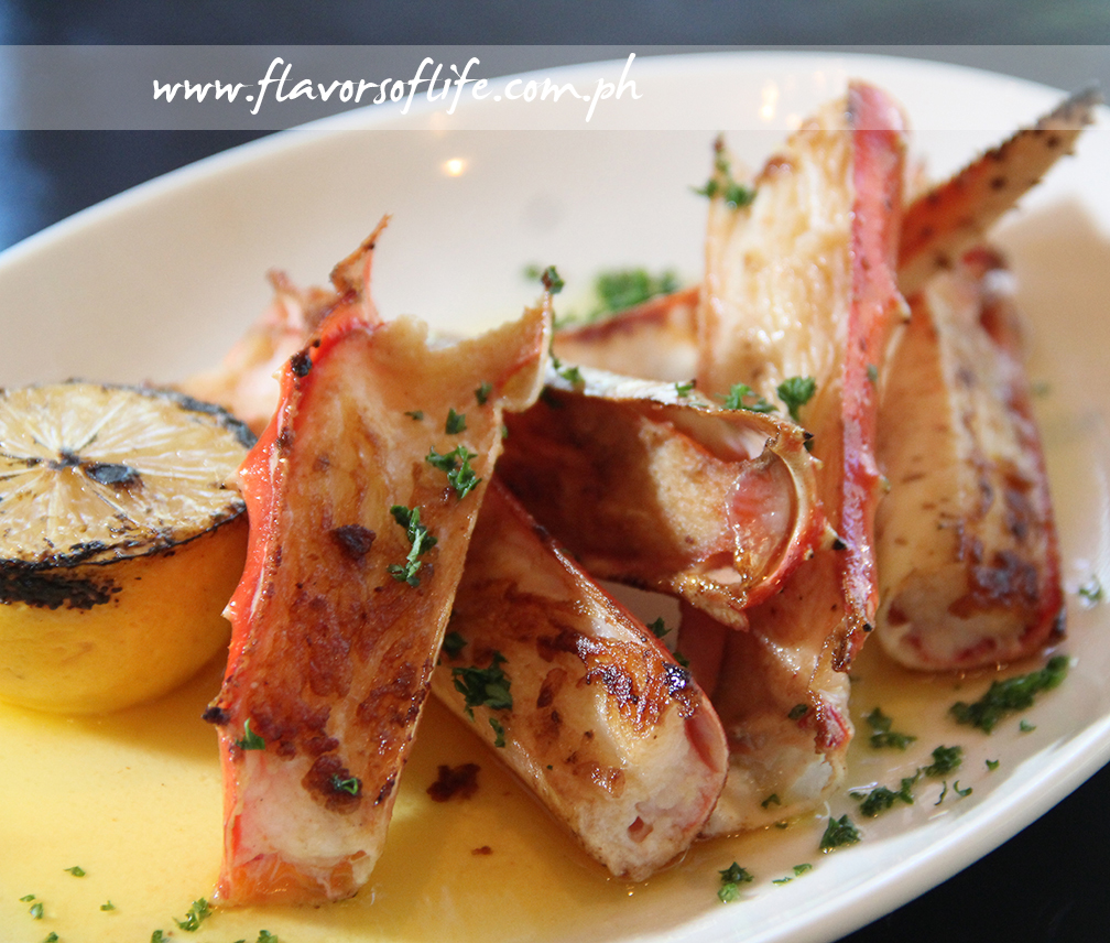 Grilled King Crab with Lemon and Parsley