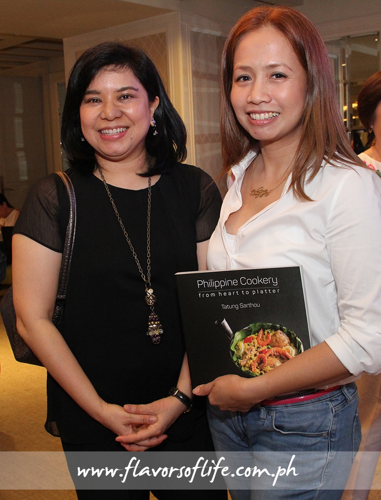Food Magazine and Philippine Cookery editor Nana Ozaeta with Chef Jackie Laudico