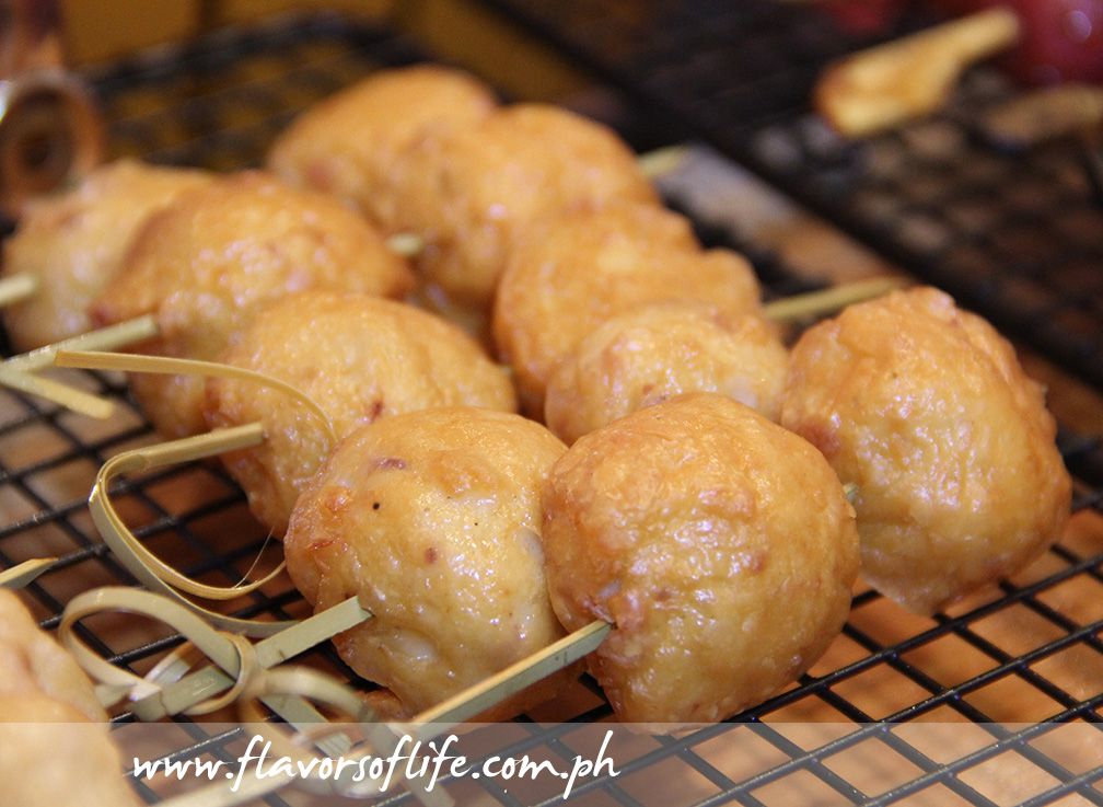 Squid Balls on skewers by Planet Grapes