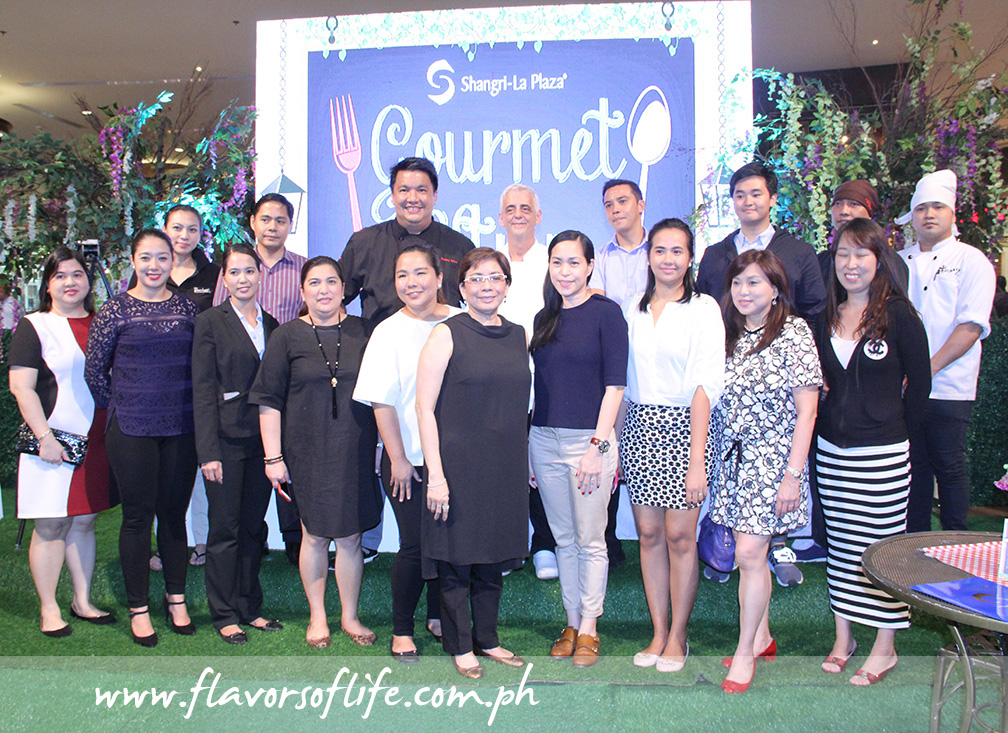 Representatives of some of the participating establishments with Shangri-La Plaza's EVP and GM Lala Fojas