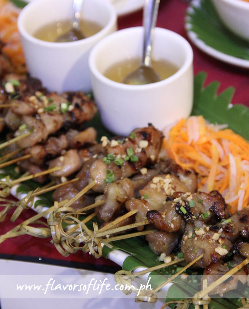 Zao Vietnamese Bistro's Chicken and Pork Satay
