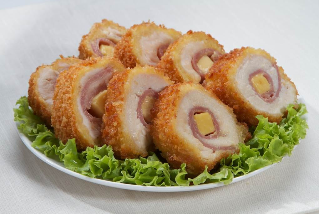 Deep-fried Chicken Cordon Bleu