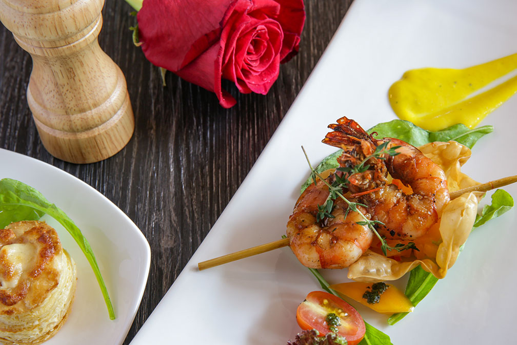 Grilled Spiced Shrimp Skewer