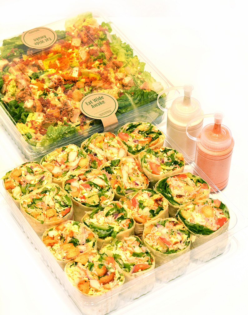 SaladStop!'s Party Trays make feasting with family and friends light and healthy