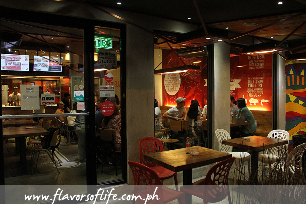 Gostoso Piri Piri Flame Grilled Chicken is a cozy dining and hangout place in Kapitolyo, Pasig City