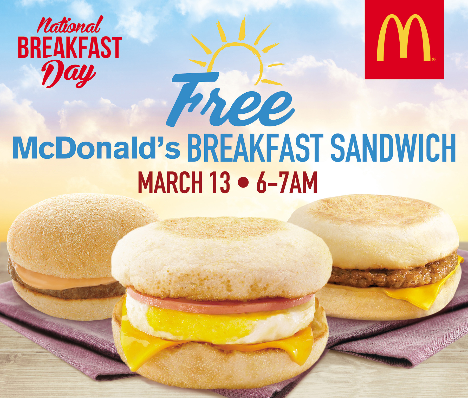 McDonald's celebrates the 5th National Breakfast Day on May 13, 2017, Monday
