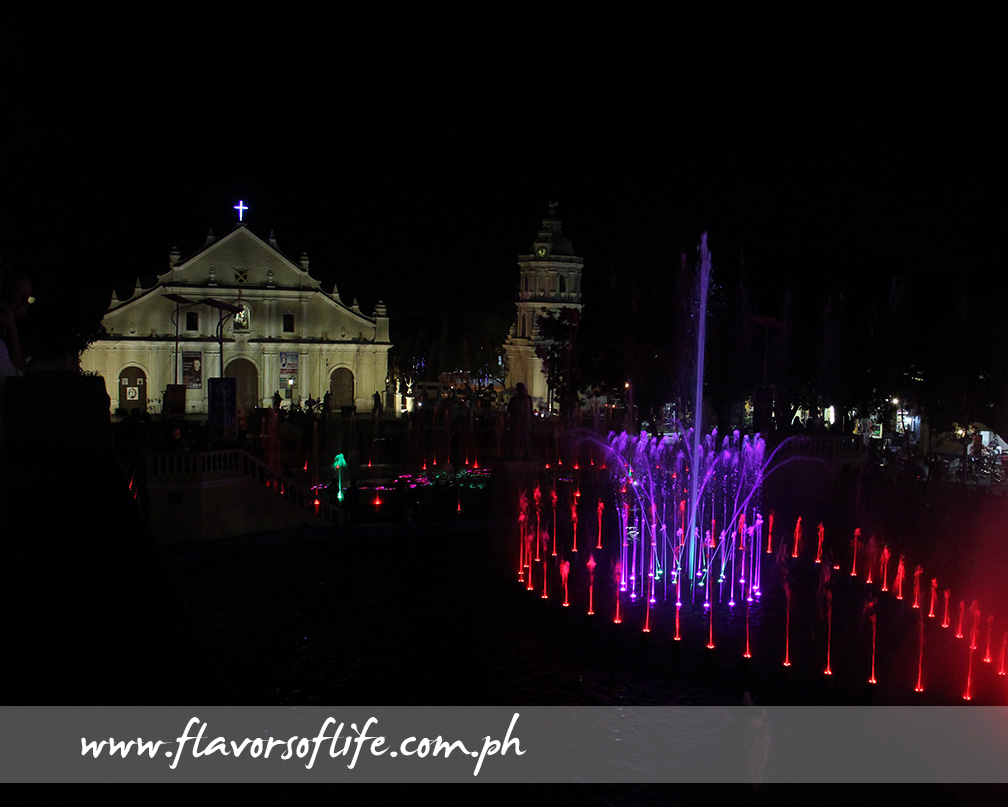 The Cathedral of Vigan can be seen from the dancing fountain show at the plaza