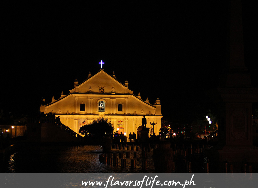 The Cathedral of Vigan at night
