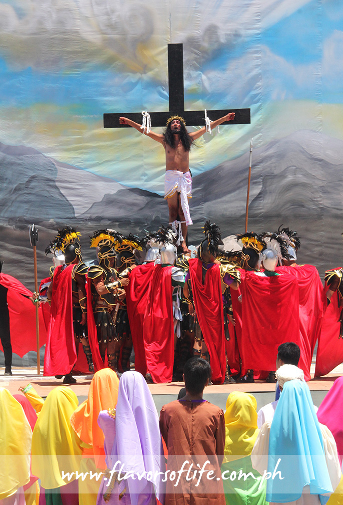 A reenactment of the passion and resurrection of Jesus Christ takes place on Easter Sunday as the highlight of Marinduque's Moriones Festival