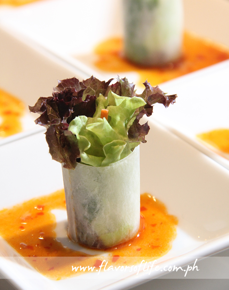 Daikon Wraps with Chili Garlic Dressing