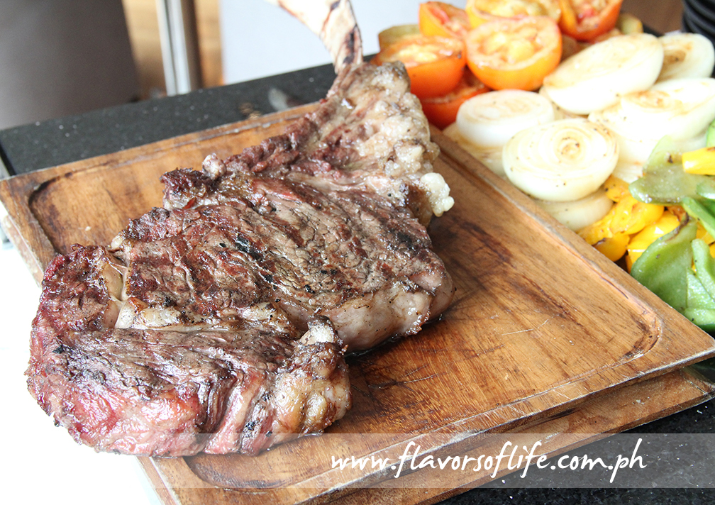 Josper Tomahawk Steak available at the carving station