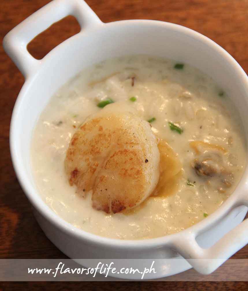Scallop and Clam Risotto with Leeks and Champagne Sauce