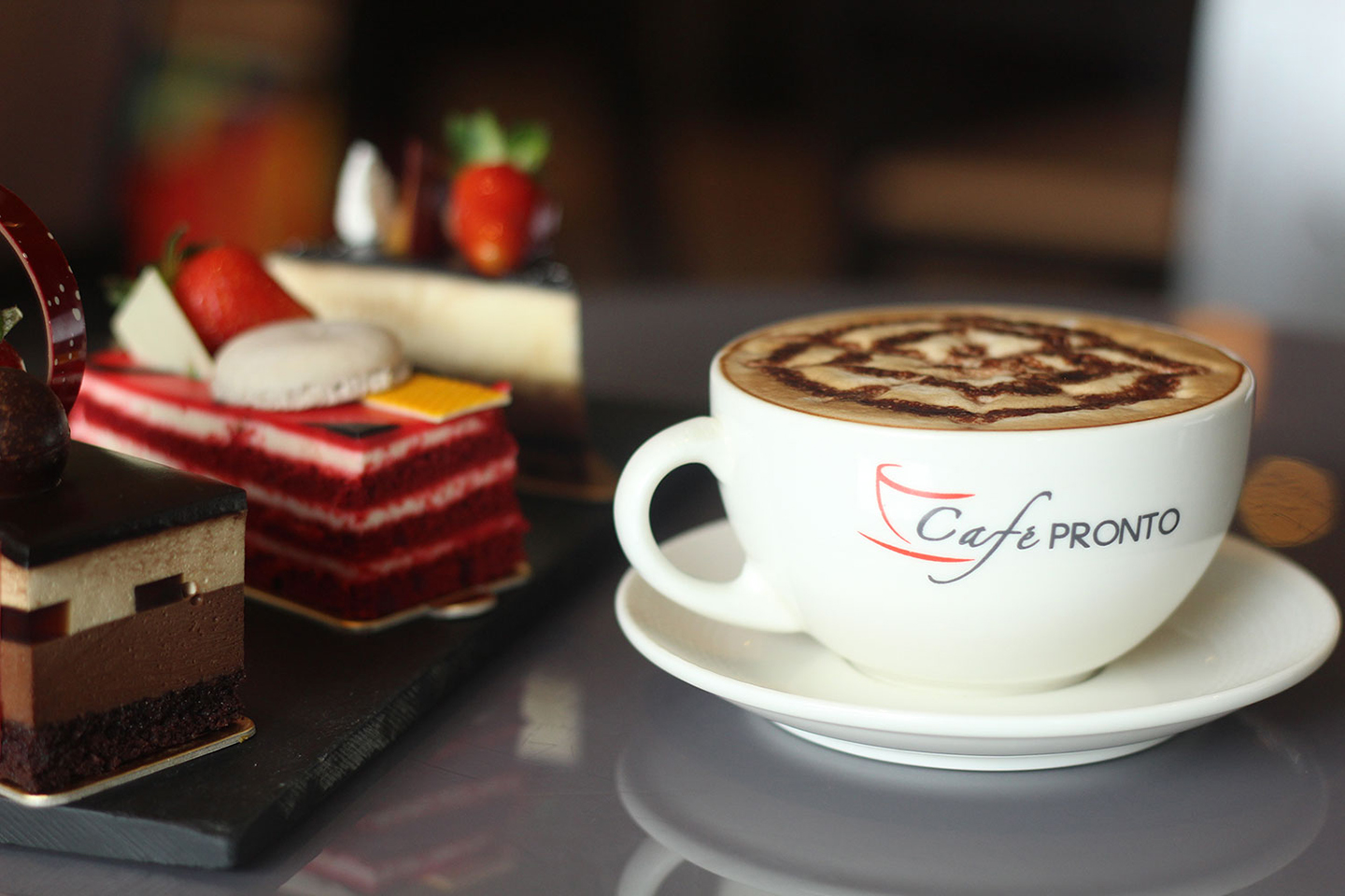 Cakes and coffee--perfect combination at Marco Polo Ortigas Manila's Cafe Pronto