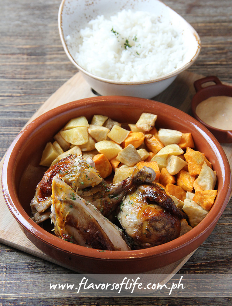 Enye Roasted Chicken with Root Vegetables