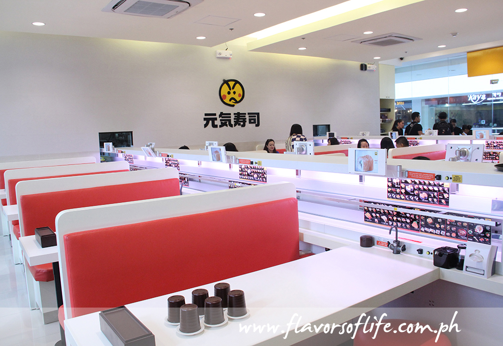 Genki Sushi features casual booth dining