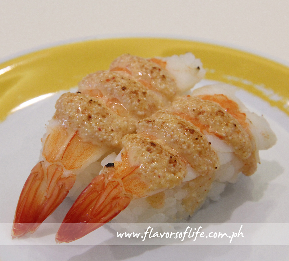 Seared Shrimp with Black Pepper Sushi