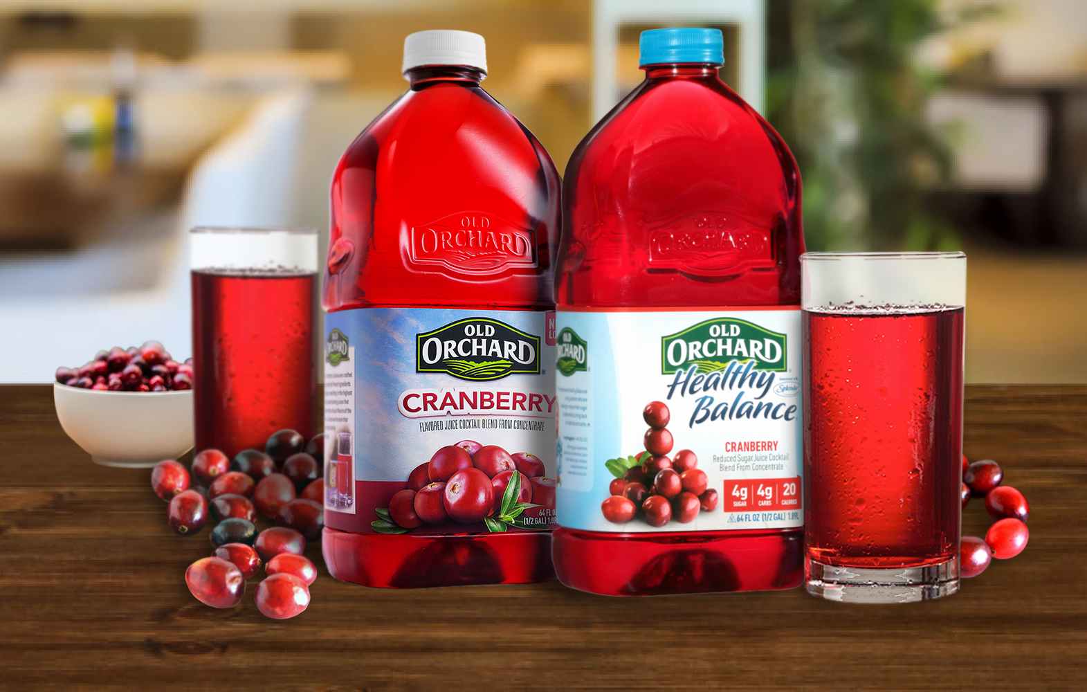 Old Orchard Cranberry Juice variants