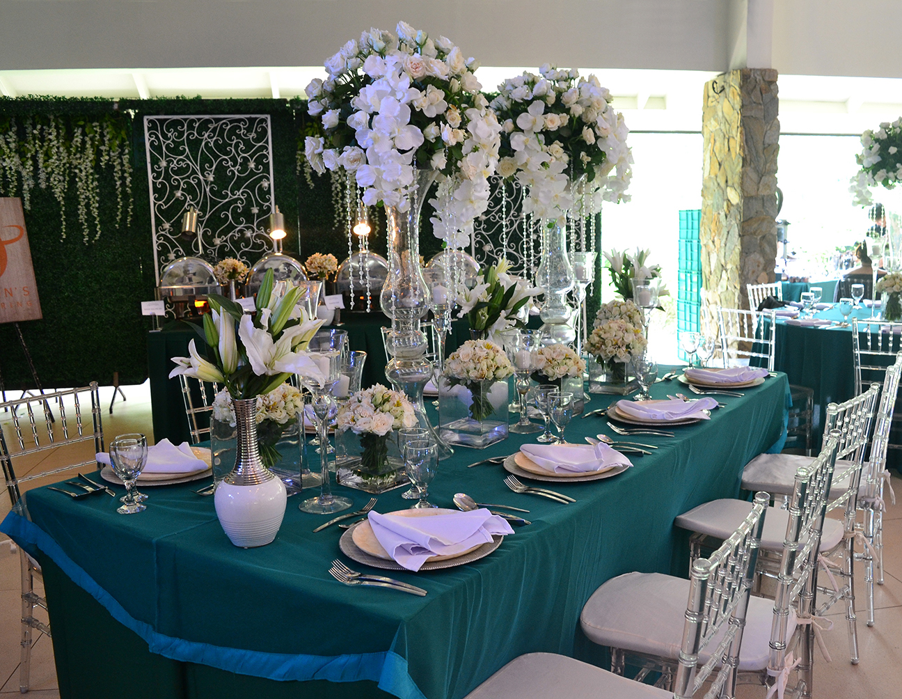 A wedding setup by Hizon's Catering