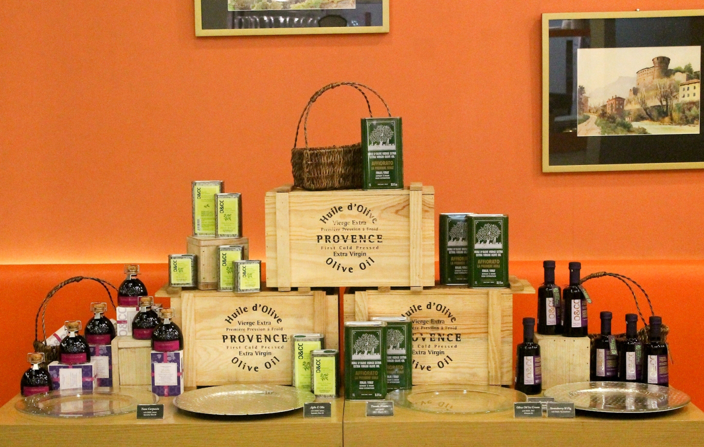Oliviers&Co. specializes in gourmet olive oils, condiments and seasongs