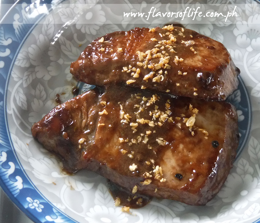 Tuna Steak in Teriyaki Sauce