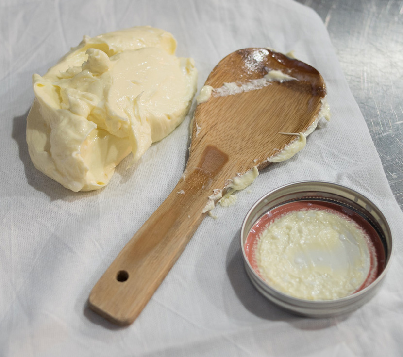 Homemade butter made using Real Caifornia Milk