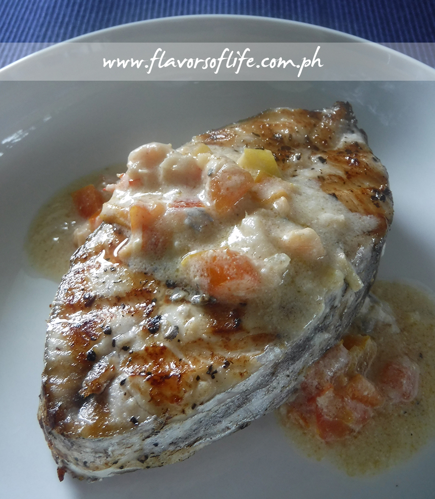 Grilled Tanigue Steak with Sinanglay Sauce