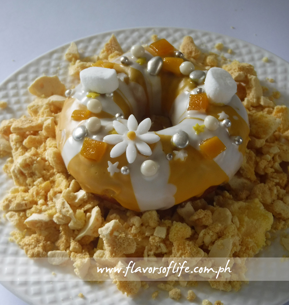 The mango doughnut variant Made by Chef Kristine Lotilla